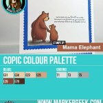 Mama Elephant Bear Hugs Copic Marker Colour Palette - www.markergeek.com