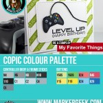 MFT Die-namics Game Controller Copic Marker Colour Palette - www.markergeek.com