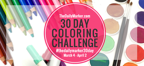 The Daily Marker 30 Day Colouring Challenge
