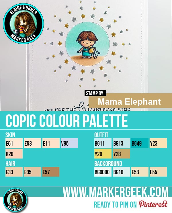 Mama Elephant - Cosmic Stars Copic Marker Colour Palette - www.markergeek.com