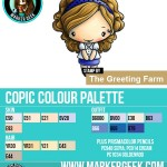 The Daily Marker 30 Day Colouring Challenge 2 - The Greeting Farm Spotlight Anya Copic Colour Palette www.markergeek.com