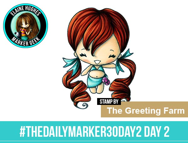 The Daily Marker 30 Day Colouring Challenge 2 - The Greeting Farm Magical Bean Kit www.markergeek.com