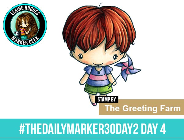 The Daily Marker 30 Day Colouring Challenge 2 - The Greeting Farm Twirl Anya www.markergeek.com