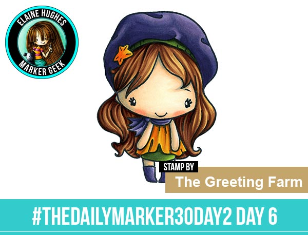 The Daily Marker 30 Day Colouring Challenge 2 - The Greeting Farm Day Out Anya www.markergeek.com