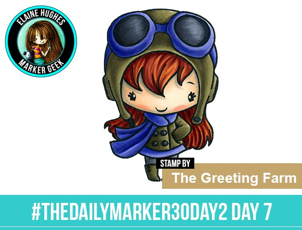 The Daily Marker 30 Day Colouring Challenge 2 - The Greeting Farm Skyward Anya www.markergeek.com