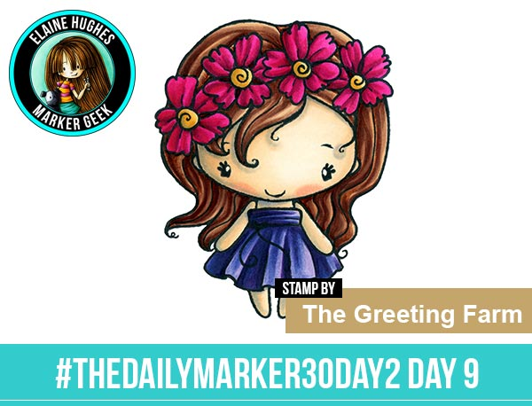 The Daily Marker 30 Day Colouring Challenge 2 - The Greeting Farm Fleur Anya www.markergeek.com