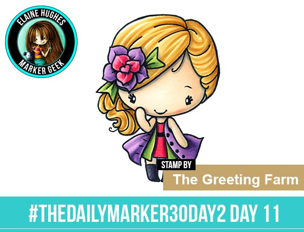 The Daily Marker 30 Day Colouring Challenge 2 - The Greeting Farm SSSC 13 Fashionista www.markergeek.com