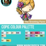 The Daily Marker 30 Day Colouring Challenge 2 - The Greeting Farm SSSC 13 Fashionista Copic Colour Palette www.markergeek.com