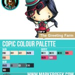 The Daily Marker 30 Day Colouring Challenge 2 - The Greeting Farm Party Props Anya Copic Colour Palette www.markergeek.com
