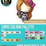 The Daily Marker 30 Day Colouring Challenge 2 - The Greeting Farm Frappi Anya Copic Colour Palette www.markergeek.com