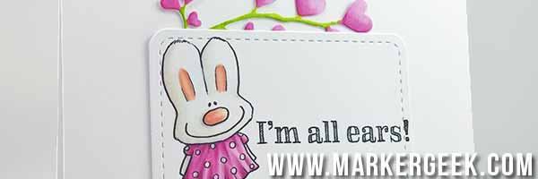 Stamping Bella Nice to Meet You Hoppy Poppy Card - www.markergeek.com