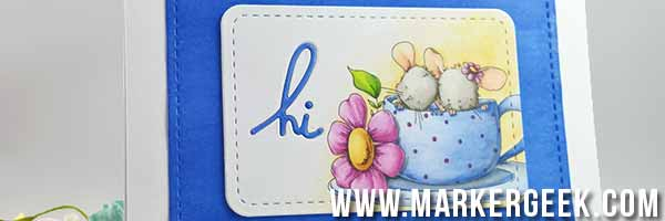 Stamping Bella Maisy & Madeline Have Some Tea Card - www.markergeek.com