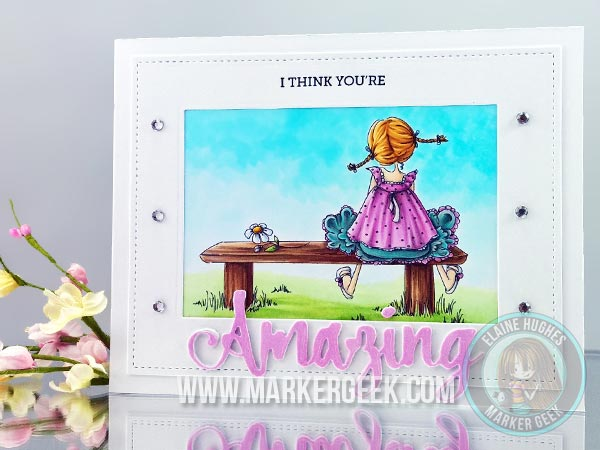 Stamping Bella CardMaker Magazine Blog Hop Tiny Townie Amanda is Awesome Card - www.markergeek.com