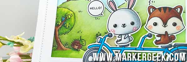 Mama Elephant Tandem Ride & Make it Crafty Background - www.markergeek.com