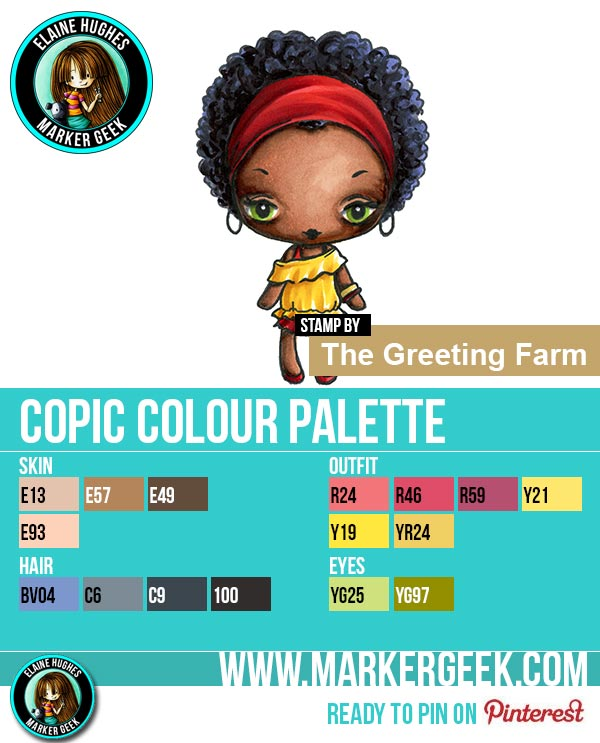 The Greeting Farm - WS Charlotte Chic Copic Marker Colour Palette - www.markergeek.com