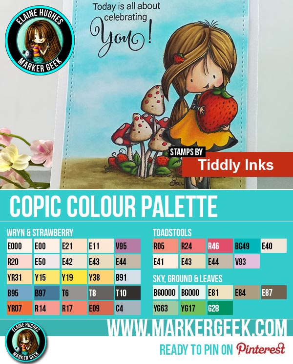 Tiddly Inks - Berry Sweet Wryn Copic Marker Colour Palette - www.markergeek.com