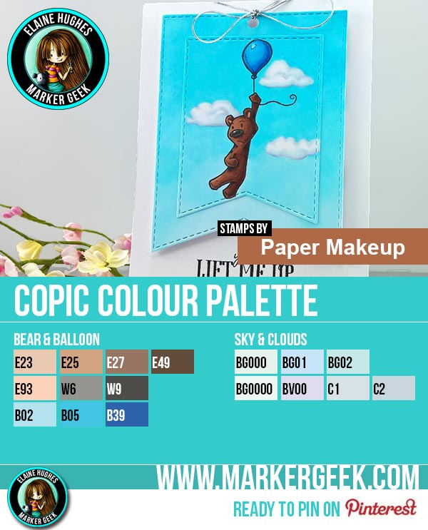 Paper Makeup Stamps - Jerry Card & Copic Marker Colour Palette - www.markergeek.com
