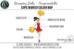 Stamping Bella - Bella 2.0 - Pompomabella Copic Colour Map www.markergeek.com