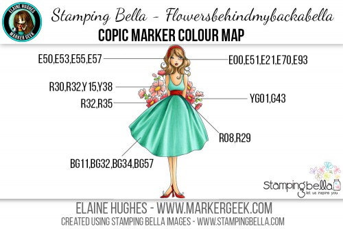 Stamping Bella - Bella 2.0 - Flowersbehindmybackabella Copic Colour Map www.markergeek.com