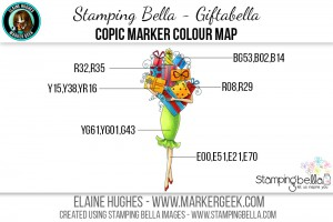 Stamping Bella - Bella 2.0 - Giftabella Copic Colour Map www.markergeek.com