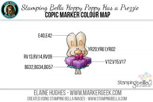 Stamping Bella Hoppy Poppy Has a Prezzie #thedailymarker30day Click through to read the blog post!