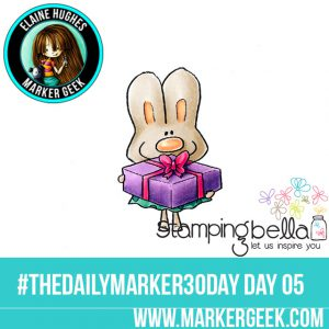 Stamping Bella Hoppy Poppy Has a Prezzie #thedailymarker30day Click through to read the blog post and get a Copic Colour Map!