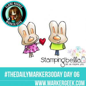 Stamping Bella Love You Hoppy Poppy #thedailymarker30day Click through to read the blog post and get a Copic Colour Map!