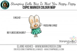 Stamping Bella Nice To Meet You Hoppy Poppy Copic Colour Map www.markergeek.com