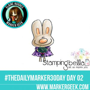 Stamping Bella Thank You Hoppy Poppy The Daily Marker 30 Day Challenge www.markergeek.com