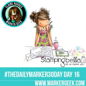 Stamping Bella Uptown Girl Jayden Loves To Journal Daily Marker 30 Day Challenge. Click through for the Copic Colour Map and videos!