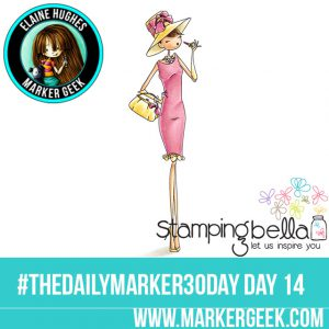 Stamping Bella Uptown Girl Audrey The Daily Marker 30 Day Challenge. Click through for the Copic Colour Map and videos!
