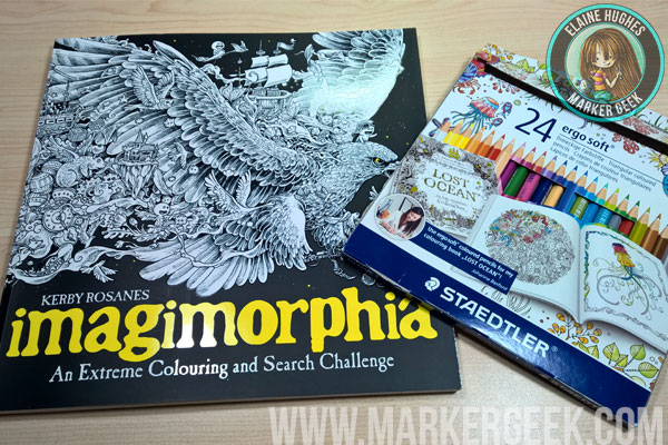 Colouring Imagimorphia with Staedtler Ergosoft Pencils with Video and Reviews www.markergeek.com