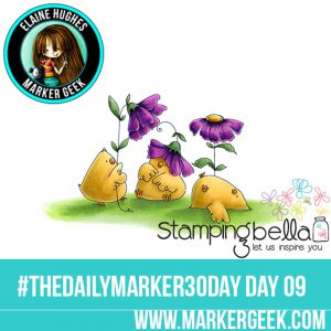 Stamping Bella Gardening Chicks #thedailymarker30day Click through for Copic Colour Maps and videos!