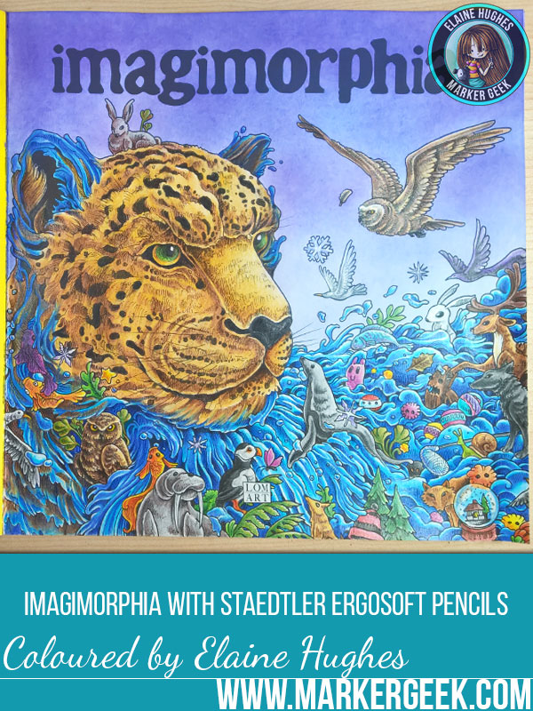 Colouring Imagimorphia Colouring Book with Staedtler Ergosoft Coloured Pencils. Click through to read the blog post and watch the videos!