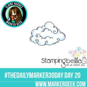Stamping Bella Cloud Base #thedailymarker30day Click through for Copic Colour Maps and videos!