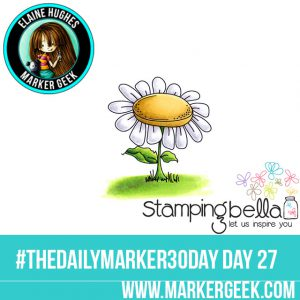 Stamping Bella Edna's Daisy Base #thedailymarker30day Click through for Copic Colour Maps and videos!