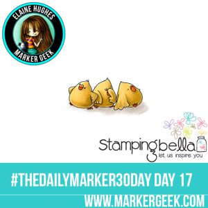 Stamping Bella Cool Chicks #thedailymarker30day Click through for Copic Colour Maps and videos!