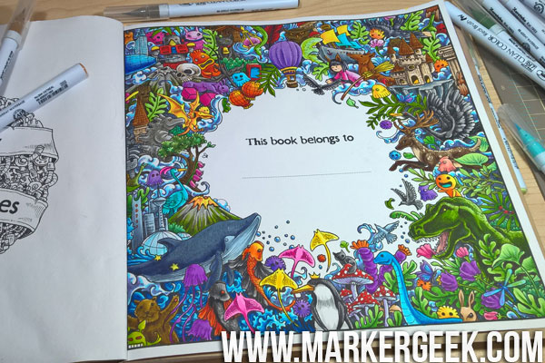 Colouring Book Therapy Colouring Imagimorphia With Zig Clean Color