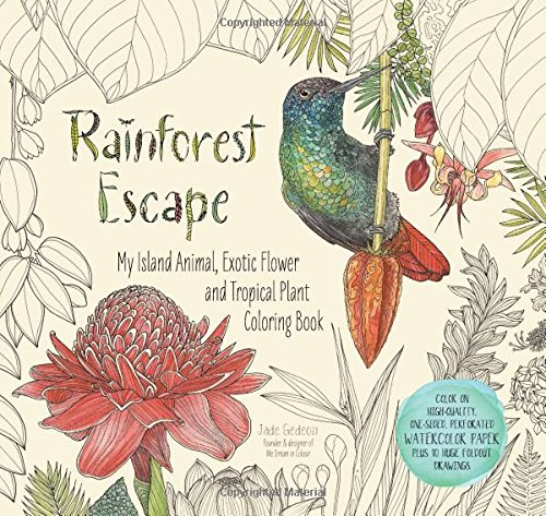 Rainforest Escape Colouring Book By Jade Gedeon Click Through For A Review Flip