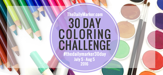 TheDailyMarker 30 Day Coloring Challenge