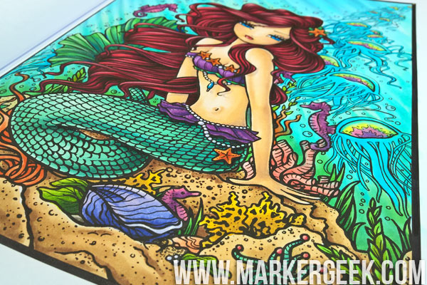 Hannah Lynn Colouring Book Review & Copic Colouring Video. Click through to watch the colouring process, read a review and grab a Copic Colour Map for the colouring page!