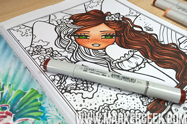 Copic Markers in Colouring Books & a Hannah Lynn Page - Marker Geek