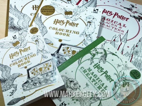 Harry Potter Colouring Book - Cornish Pixies using Copic Markers. Click through to watch the video and read the blog post!