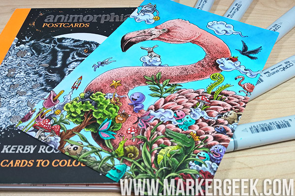 Colouring Kerby Rosanes Animorphia Flamingo Using Copic Markers Click Through To Read The Post
