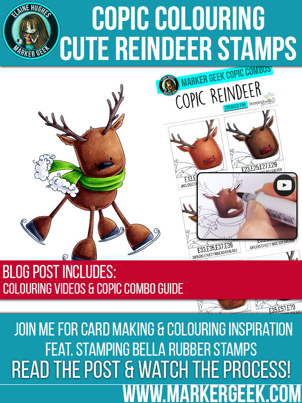 Copic Reindeer Colour Combos feat. Stamping Bella. Click through to read the post, grab the combos and watch the videos!