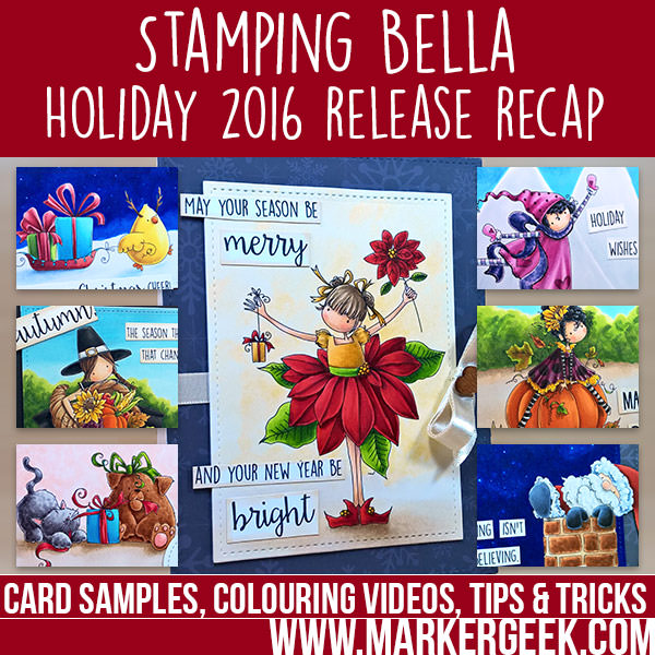 Stamping Bella Holiday 2016 Release Recap. Click through to read the post, watch videos and get links for the new stamps!
