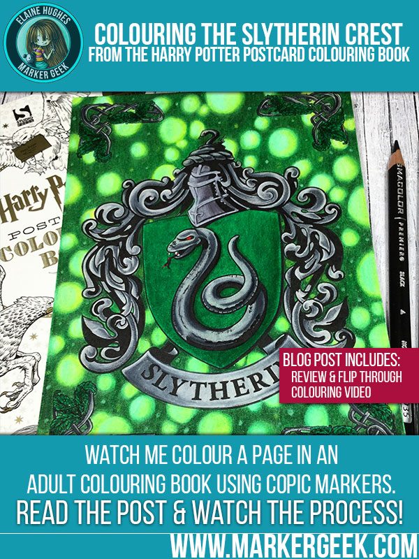 Colouring Slytherin Crest From The Harry Potter Book Click Through For Blog Post
