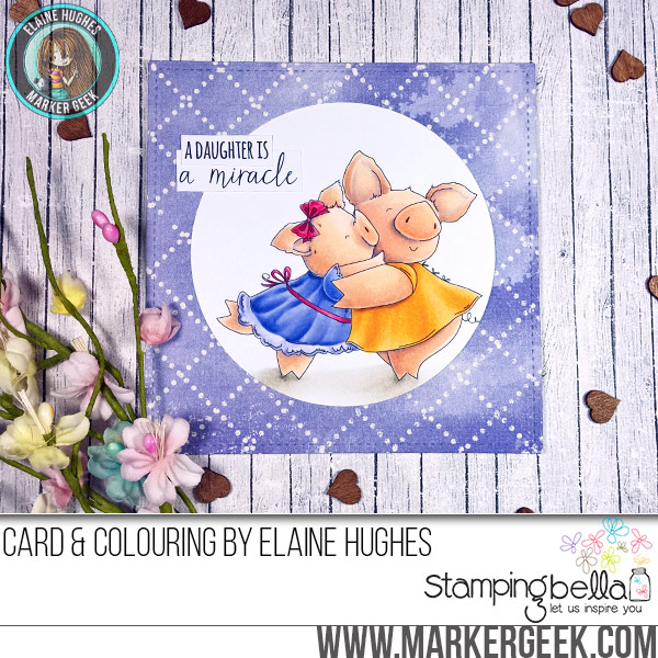 Stamping Bella Petunia and her Miracle rubber stamp Card. Click through for full details and a colouring video!