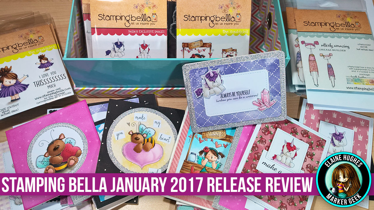 Stamping Bella Release Review January 2017. Click through for videos!
