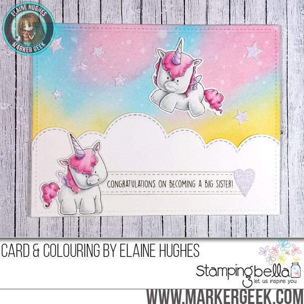Stamping Bella Set of Unicorns - Big Sister Card. Click through for the card and full details.